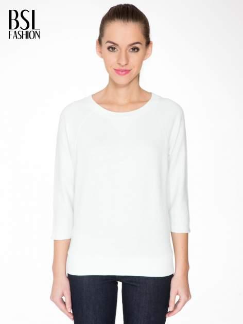 Miętowa bluza oversize z łączonych materiałów
