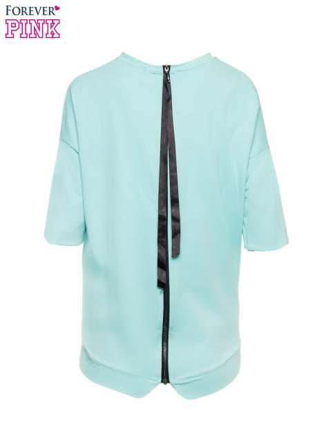 Miętowa bluza z suwakiem z tyłu                                  zdj.                                  3