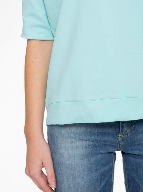 Miętowa bluza z suwakiem z tyłu                                  zdj.                                  8