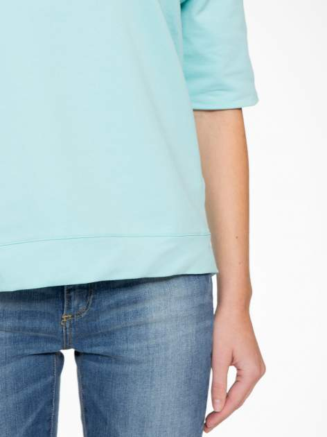 Miętowa bluza z suwakiem z tyłu                                  zdj.                                  9