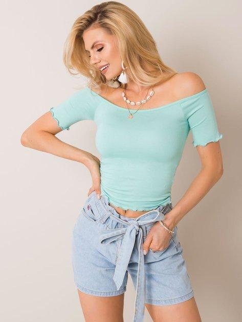 Miętowa bluzka Britney RUE PARIS