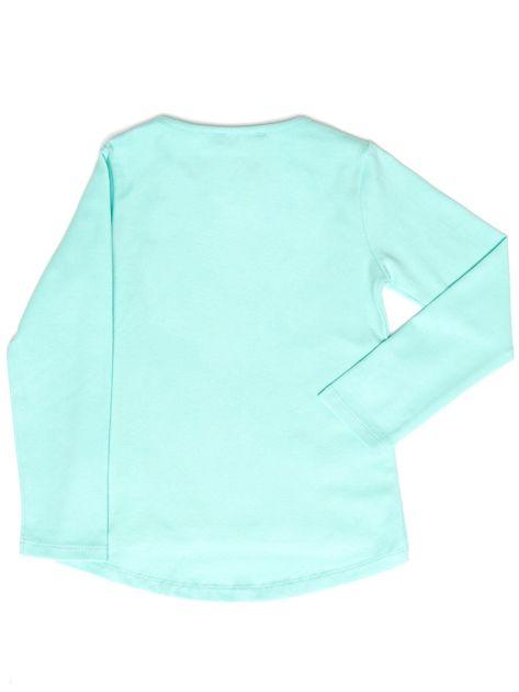Miętowa bluzka z serduszkami                              zdj.                              2