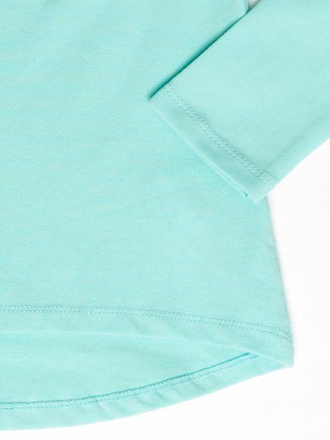 Miętowa bluzka z serduszkami                              zdj.                              4