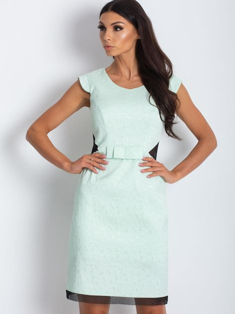Miętowa elegancka sukienka                              zdj.                              1