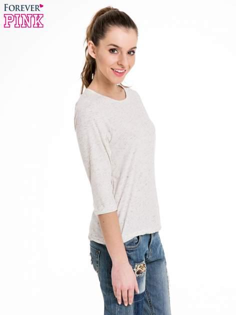 Miętowa melanżowa bluzka z rękawami 3/4                                  zdj.                                  3