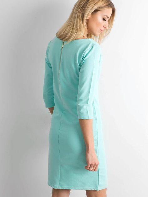 Miętowa sukienka z bawełny                              zdj.                              2