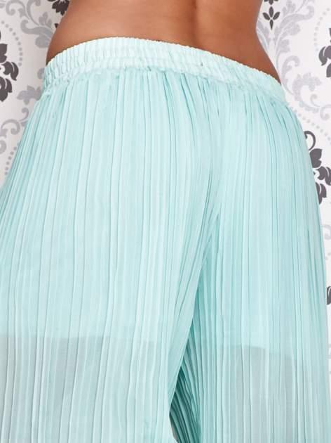 Miętowe plisowane spodnie palazzo                                   zdj.                                  5