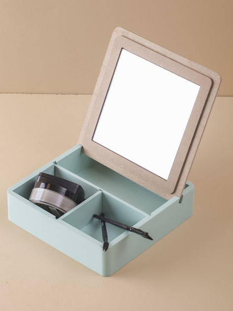 Miętowe pudełko z lusterkiem