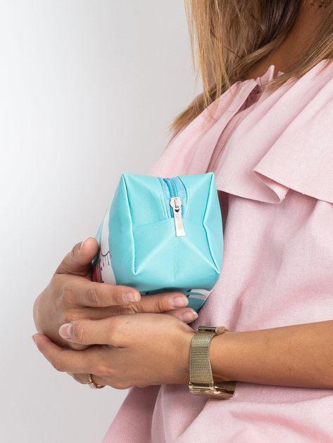 Miętowo-różowa torba z nadrukiem                              zdj.                              4
