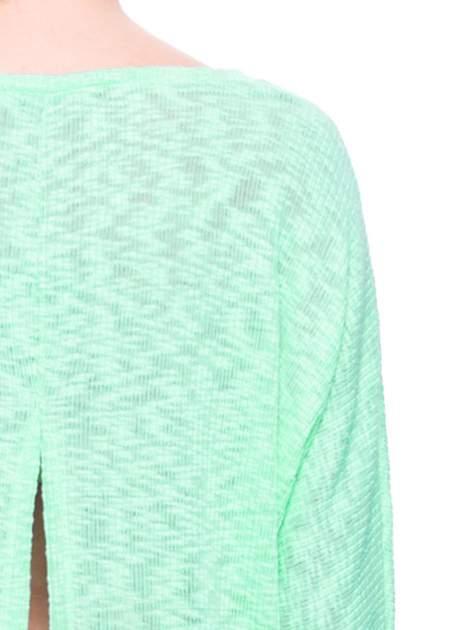 Miętowy sweter z rozcięciem na plecach                              zdj.                              6