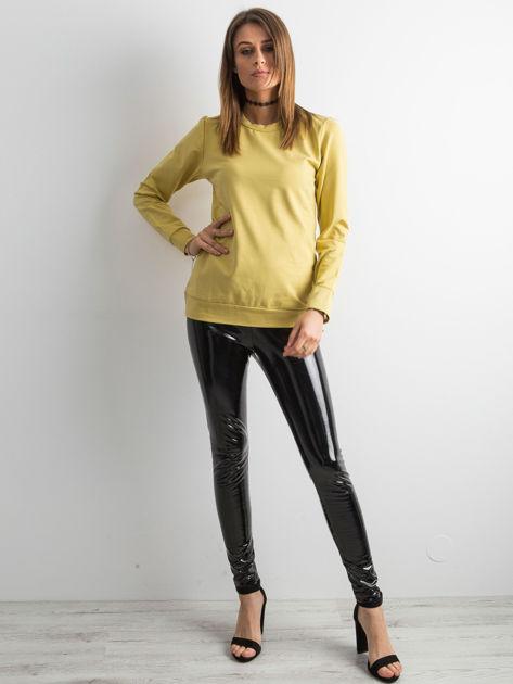 Miodowa bluza damska basic                              zdj.                              4