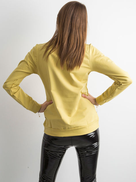 Miodowa bluza damska basic                              zdj.                              2