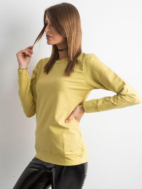Miodowa bluza damska basic                              zdj.                              3