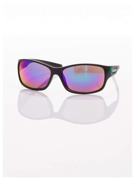 Modne męskie okulary przeciwsłoneczne niebiesko-zielone w sportowym stylu                                  zdj.                                  4
