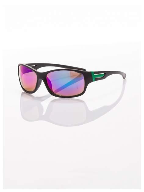 Modne męskie okulary przeciwsłoneczne niebiesko-zielone w sportowym stylu                                  zdj.                                  1