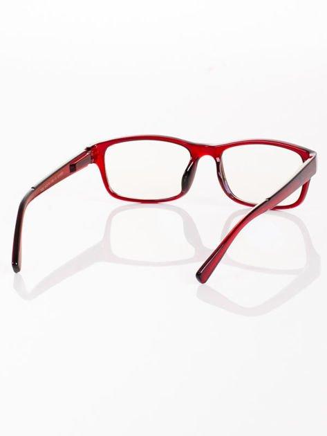 Modne okulary zerówki KUJONKI NERDY; soczewki ANTYREFLEKS+system FLEX na zausznikach                                  zdj.                                  5