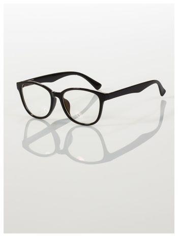 Modne okulary zerówki klasyczne - soczewki ANTYREFLEKS,system FLEX na zausznikach                                  zdj.                                  2
