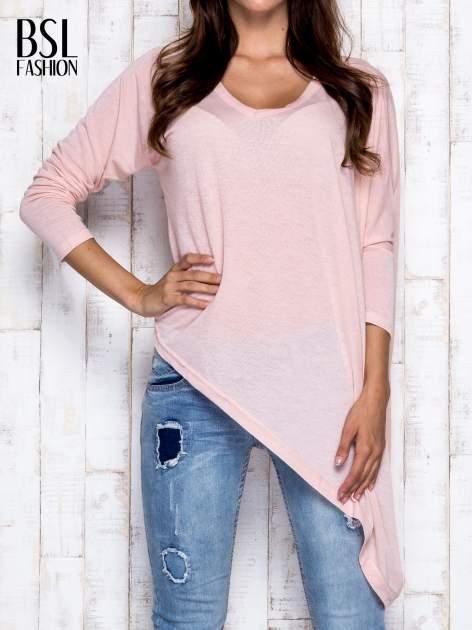 Morelowa melanżowa bluzka oversize                                  zdj.                                  1