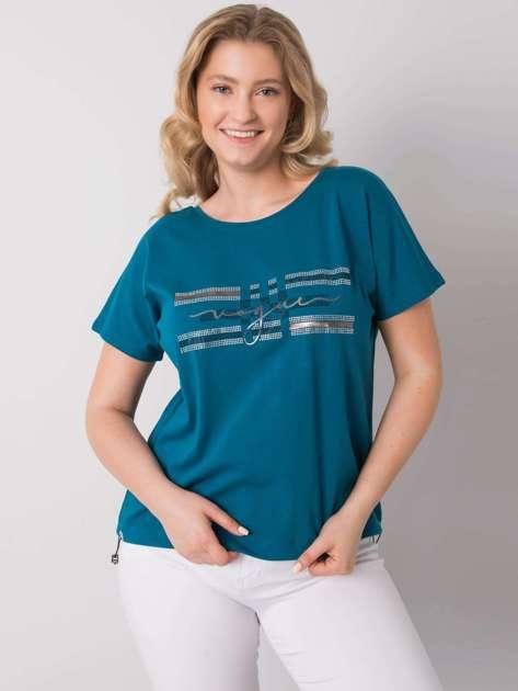 Morska bluzka plus size Melfi