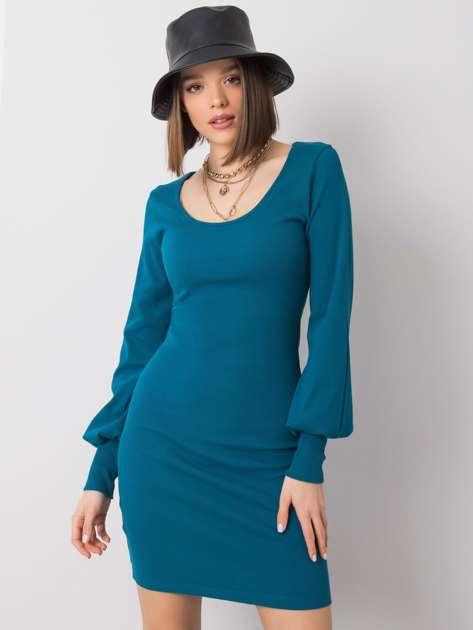 Morska sukienka bawełniana Alvine RUE PARIS