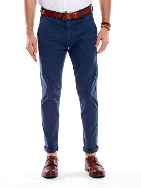 Morskie materiałowe spodnie męskie                              zdj.                              1