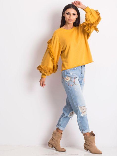 Musztardowa bluza Silvia                              zdj.                              4