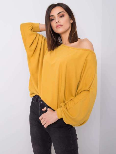 Musztardowa bluzka oversize Lissa RUE PARIS