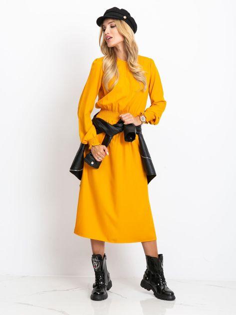 Musztardowa sukienka Saffire                              zdj.                              5