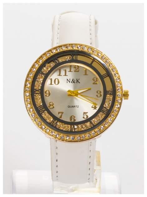 N&K Zegarek damski z cyrkoniami i kryształkami wokół tarczy                                  zdj.                                  2