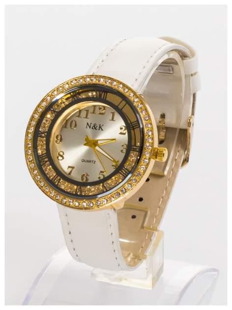 N&K Zegarek damski z cyrkoniami i kryształkami wokół tarczy                                  zdj.                                  1