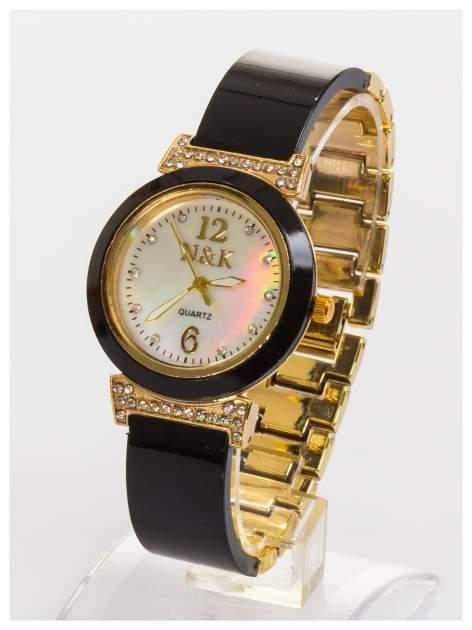 N&K Zegarek damski z perłową tarczą na bransolecie