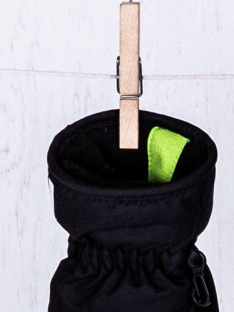 NEVICA Ocieplane wodoodporne dziecięce rękawiczki narciarskie czarne                                  zdj.                                  4