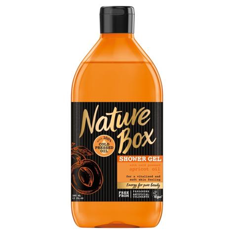 """Nature Box Apricot Oil Żel pod prysznic rewitalizujący  385ml"""""""