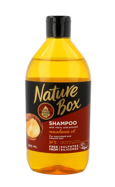 """Nature Box Macadamia Oil Szampon do włosów odżywczo-wygładzający  385ml"""""""