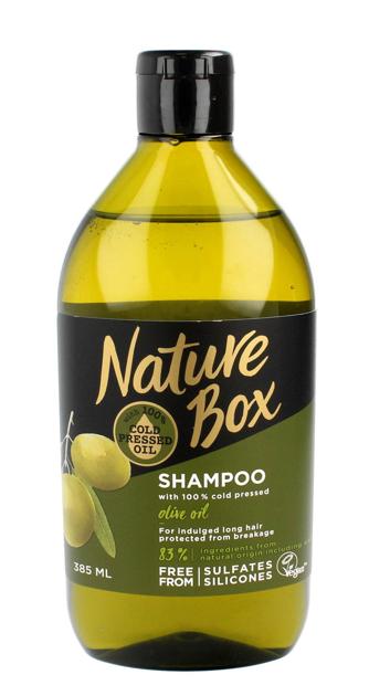 """Nature Box Olive Oil Szampon do włosów długich wzmacniający  385ml"""""""