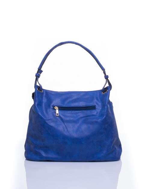 Niebieska ażurowa torba na ramię                                  zdj.                                  3
