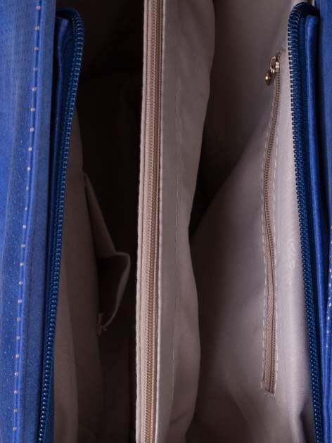 Niebieska ażurowa torba na ramię                                  zdj.                                  5
