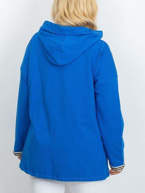 Niebieska bluza plus size Camille                              zdj.                              2