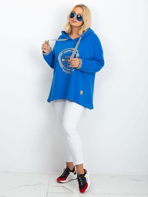 Niebieska bluza plus size Camille                              zdj.                              4