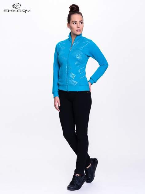Niebieska bluza sportowa z logo EXTORY                                  zdj.                                  2