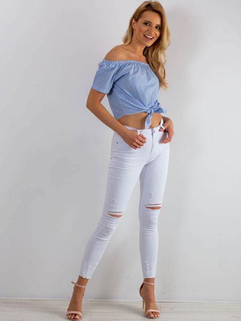 Niebieska bluzka Addict                              zdj.                              4