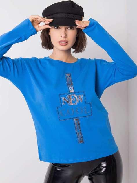 Niebieska bluzka Parker