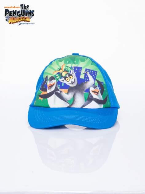 Niebieska chłopięca czapka z daszkiem PINGWINY Z MADAGASKARU                              zdj.                              1