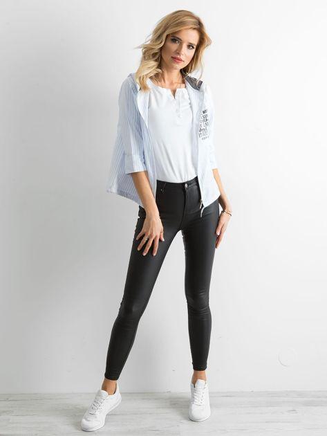 Niebieska cienka bluza w paski                              zdj.                              6