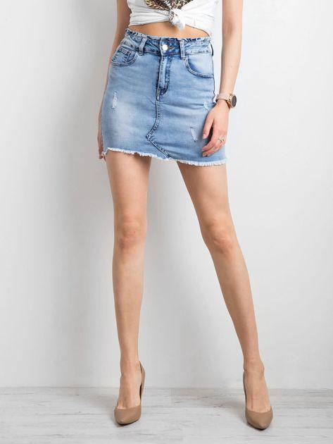 Niebieska damska spódnica jeansowa                              zdj.                              5