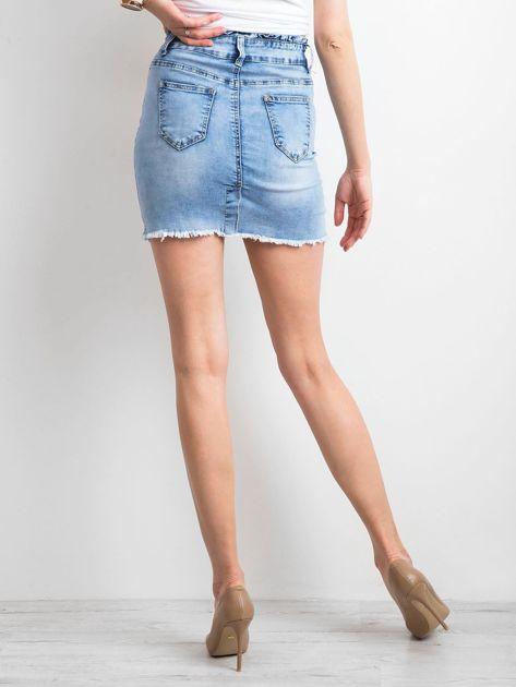 Niebieska damska spódnica jeansowa                              zdj.                              2