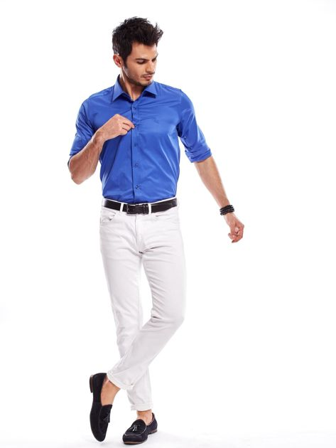 Niebieska koszula męska                                   zdj.                                  13