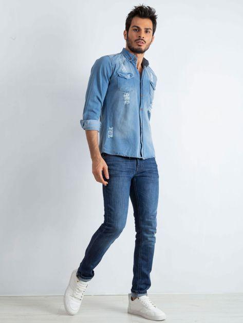 Niebieska koszula męska Jeanswear                              zdj.                              4
