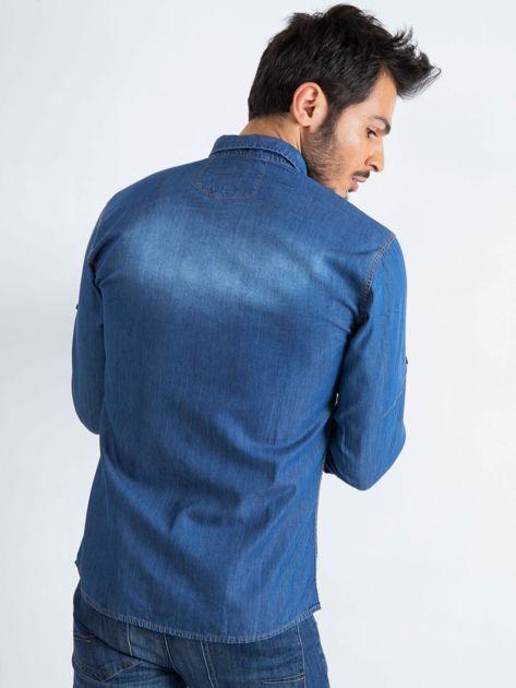 Niebieska koszula męska Ranch                              zdj.                              2