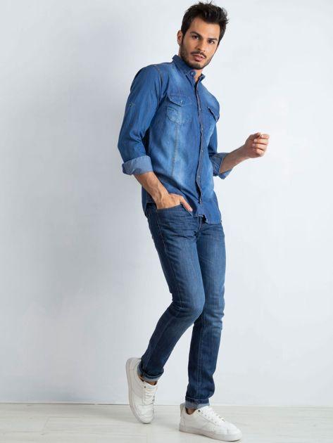 Niebieska koszula męska Ranch                              zdj.                              4